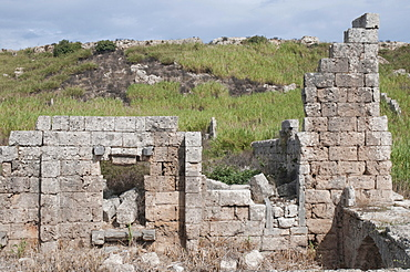 Ancient basilica, Perga, a large site of ancient ruins, Antalya, Turkish Riviera, Turkey, Asia