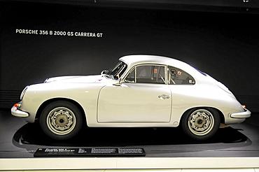 Porsche 356 B 2000 GS Carrera GT, built in 1960, Porsche Museum, Stuttgart, Baden-Wuerttemberg, Germany, Europe
