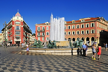 Place Massena square, Nice, Nizza, Departement Alpes-Maritimes, Provence-Alpes-Cote díAzur, France, Europe