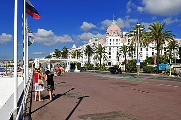 Promenade des Anglais, Nice, Nizza, Departement Alpes-Maritimes, Provence-Alpes-Cote díAzur, France, Europe