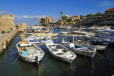 Historic port, harbour of Byblos, Jbail, Unesco World Heritage Site, Lebanon, Middle east, West Asia