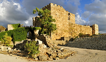 Crusader castle in the archeological site of Byblos, Unesco World Heritage Site, Jbail, Lebanon, Middle East, West Asia
