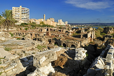 Ancient archeological site of Tyros, Tyre, Sour, Unesco World Heritage Site, Lebanon, Middle East, West Asia