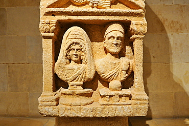 Ancient Roman stone stele from Byblos, National Museum, Beirut, Beyrouth, Lebanon, Middle East, West Asia