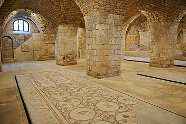 Vaulted ceiling with mosaic display at Beit ed-Dine, Beiteddine Palace of Emir Bashir, Chouf, Lebanon, Middle East, West Asia