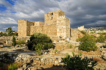 Crusader castle in the archeological site of Byblos, Unesco World Heritage Site, Jbail, Jbeil, Lebanon, Middle East, West Asia
