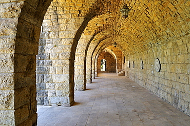 Vaulted ceiling with mosaic display at historic Beit ed-Dine, Beiteddine Palace of Emir Bashir, Chouf, Lebanon, Middle East, West Asia