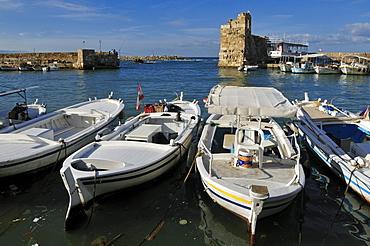Historic port, harbour of Byblos, Jbail, Jbeil, Lebanon, Middle East, West Asia