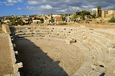 Antique Roman theater at the archeological site of Byblos, Unesco World Heritage Site, Jbail, Lebanon, Middle East, West Asia