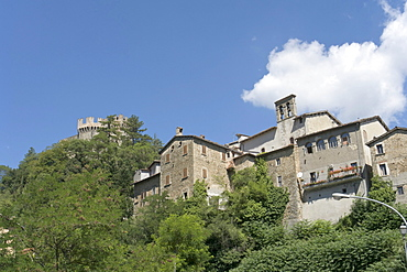 Borgo, administrative division of Arquata del Tronto, a fortified hill town in the province of Ascoli Piceno, Marches, Italy, Europe
