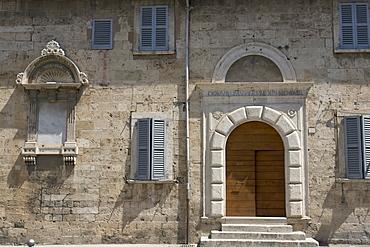 Portal of the Monastero di Sant'Onofrio, Rua Francesco Tamburini, Ascoli Piceno, Marches, Italy, Europe