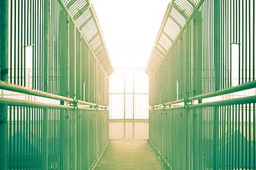 Corridor between bars
