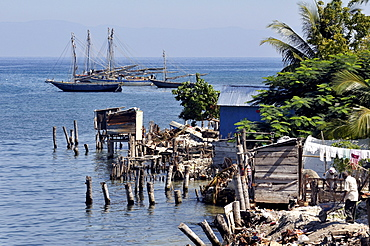 Fishing village on the Caribbean coast, Petit Goave, Haiti, Caribbean, Central America