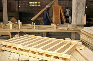 Carpentry workshop for the production of components to construct earthquake-resistant prefabricated houses for the victimes of the January 2010 earthquake, Petit Goave, Haiti, Caribbean, Central America