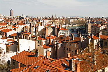 Lyon, view from the Croix Rousse, France, Europe