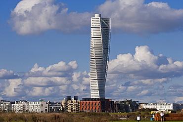 Turning Torso, landmark, cityscape, Malmo, Skane, Sweden, Europe