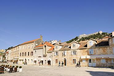 Trg Sv Stjepana, St. Stephenís Square, Hvar, Hvar Island, Croatia, Europe