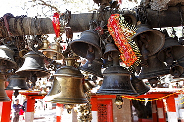 Golu Devta Temple or Golu Devata Temple, Temple of the Bells, a temple for the God Golu, Ghorakhal, Uttarakhand, North India, India, Asia