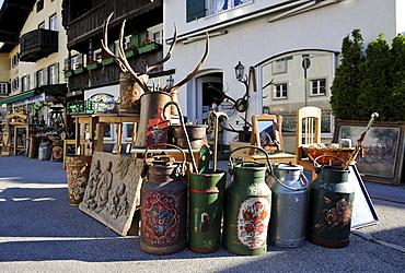 Antiques dealer's shop in Tegernsee, Upper Bavaria, Bavaria, Germany, Europe