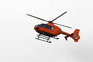Rescue helicopter Christoph 3 in flight, helicopter air ambulance