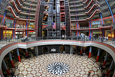 Interior view of the James R. Thompson Center, JRTC, State Building, formerly known as the State of Illinois Center, Chicago, Illinois, United States of America, USA