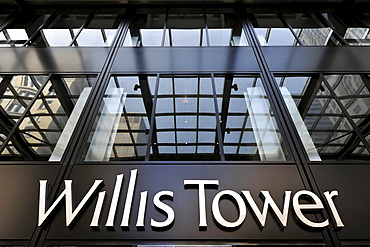 Entrance area of the Willis Tower, formerly named Sears Tower and renamed in 2009, Chicago, Illinois, United States of America, USA