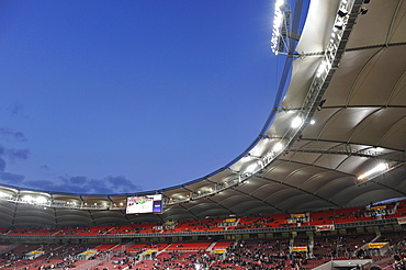 New stadium stand, Untertuerkheimer Kurve, Mercedes-Benz Arena, Stuttgart, Baden-Wuerttemberg, Germany, Europe