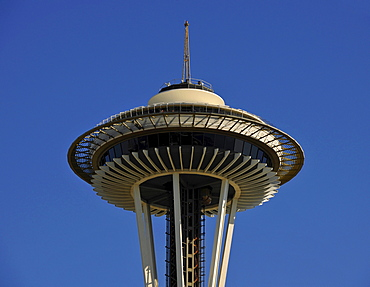 Space Needle observation deck, Seattle Center, Seattle, Washington, United States of America, USA