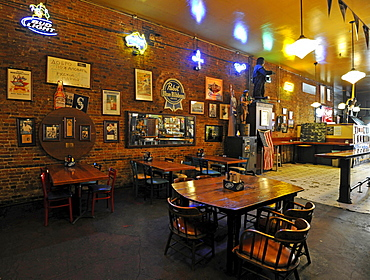 Interior, The Central Saloon, the oldest saloon in Seattle, Washington, United States of America, USA