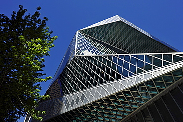 Seattle Public Library, designed by Rem Koolhaas and Joshua Prince-Ramus, Seattle, Washington, United States of America, USA