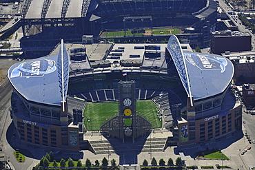Looking south, Seahawk Stadium, Qwest Field, Seattle, Washington, United States of America, USA