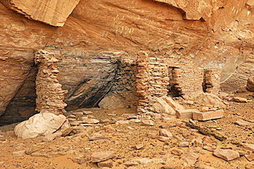 House of Many Hands, about 1500 year old ruins of Native American Indians, Mystery Valley, Arizona, USA