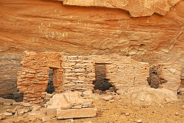 House of Many Hands, about 1500 years old remains of Native American Indians, Mystery Valley, Arizona, USA, North America