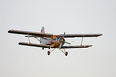 Vintage aircraft, Antonov AN-2, the largest single engine biplane in the world, Breitscheid Airshow 2010, Hesse, Germany, Europe