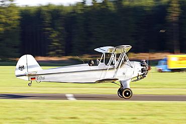 Vintage biplane, Focke Wulf FW-44, Breitscheid Airshow 2010, Hesse, Germany, Europe