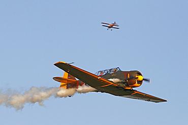 Vintage aircraft, North American Harvard T 6, Breitscheid Airshow 2010, Hesse, Germany, Europe