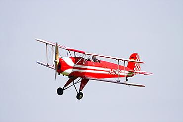 Vintage biplane, Casa Buecker 131 Jungmann, Breitscheid Airshow 2010, Hesse, Germany, Europe