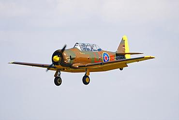 Vintage aircraft, North American T 6 Harvard, Breitscheid Airshow 2010, Hesse, Germany, Europe