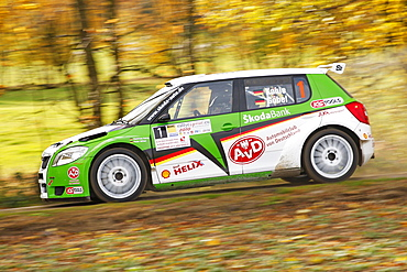 Skoda Fabia S2000, driven by Matthias Kahle, German Rally Champion 2010, Rallye Stehr Rallyesprint 2010, Hesse, Germany, Europe