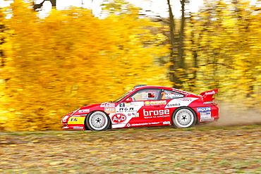 Porsche 996 911 GT3 RS, driven by Olaf Dobberkau, DRS Champion 2010, Rallye Stehr Rallyesprint 2010, Hesse, Germany, Europe
