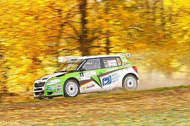 Skoda Fabia S2000, driven by Sandra Wallenwein, German Rally Vice Champion 2010, Rallye Stehr Rallyesprint 2010, Hesse, Germany, Europe