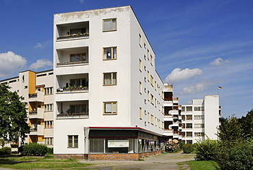 Great Settlement of Siemens City also known as Ring Settlement, completed in 1929-1931, UNESCO World Heritage Site, one of the Berlin Modernism Housing Estates, designed by the architects Otto Banning, Fred Forbat, Walter Gropius, Hugo Haering, Paul Rudol