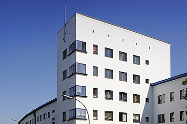 Weisse Stadt, White City, built in 1929-31 by Bruno Ahrends, Wilhelm Buening and Otto Rudolf Salvisberg, green settlement by Ludwig Lesser, Berlin Modernist Housing Estates, UNESCO World Heritage Site, Aroser Allee, Gotthardstrasse, Reinickendorf, Berlin,