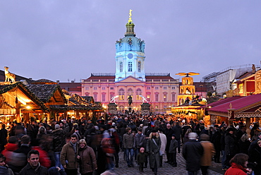 Christmas market at Schloss Charlottenburg castle, Berlin, Germany, Europe