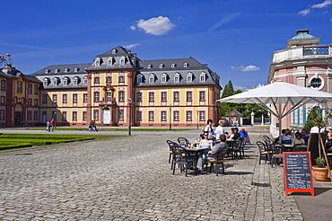 West Wing, Bruchsal Palace, Bruchsal, Kraichgau, Baden-Wuerttemberg, Germany, Europe