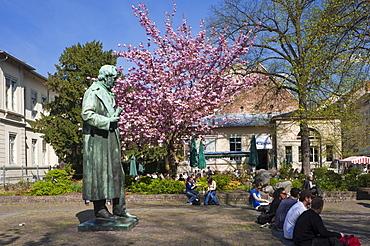 Memorial to Robert Wilhelm Bunsen, Heidelberg, Neckar, Palatinate, Baden-Wuerttemberg, Germany, Europe