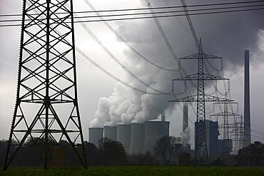 E.ON coal power plant in Gelsenkirchen-Scholven, North Rhine-Westphalia, Germany, Europe