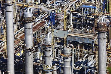 Petroleum refinery, industrial plant, detail