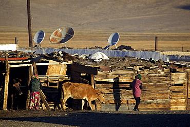 Morning in Bulunkul, Pamir, Tajikistan, Central Asia