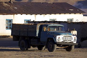 Old truck in Bulunkul, Pamir, Tajikistan, Central Asia